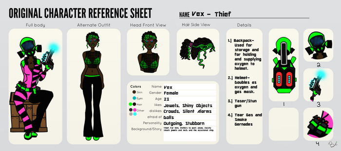 Vex Character Reference by BluntlyEco