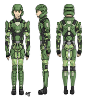 Standard UNSC Armor of 2561 by Izaak94