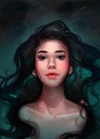 Book cover for 'The Girl with Black Eyes' by talitapersi