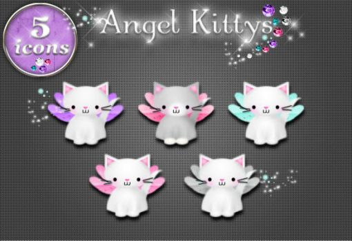 Angel Kittys Icons by kittenbella