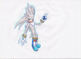 Silver The Hedgehog -colored- by spyroid101