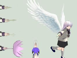 [MMD NEWCOMER] Kanade Angel (Angel Beats) by M0fD