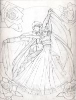 Sketch: Serenity and Endymion by Yamigirl21