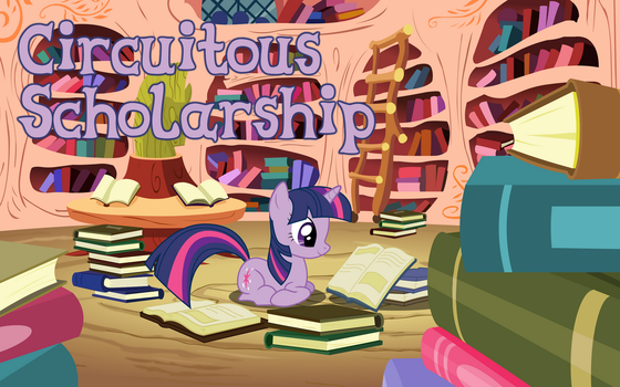 Circuitious Scholarship Title Card by OleGrayMane