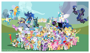 Friendship is Magic Cast Poster v3 by Xain-Russell