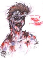 Steve the Zombie's Hungry by Pink-Myotis
