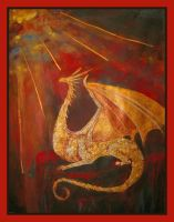 Golden Dragon by Esoteric-Painter