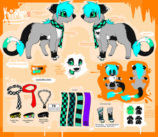 Kimbo Fursona Reference Sheet by Sliced-Penguin