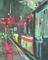 Wet Wednesday at New Street by walesrallyart