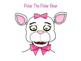 FNAF OC - Polar The Polar Bear! by Dark-Anmut