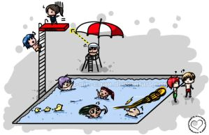 The Pool is a Dangerous Place by lil-nega-nin-chan