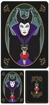 Maleficent and Snow White by ginL