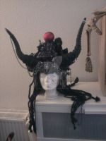 Bathomed Headdress for Meinhard by BeatriceBaumann