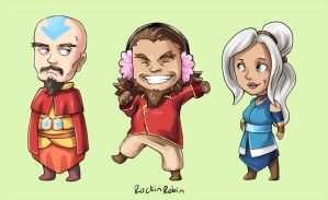 kataang sibling chibis by rockinrobin