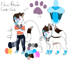 Azalea~ kitty fursona ref. sheet by SnowLilies