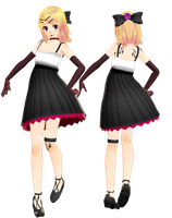 i tried making a kagamine rin goth model by Sushi-Kittie