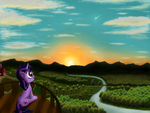 Flare arrives on Equestria by Masdragonflare