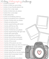 30 Day Photo Challenge by Missywoot1124