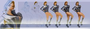 Autopia Pinup - Drawing Steps by steevinlove