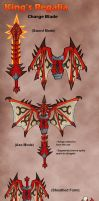 MH4U- Charge Blade- King's Regalia by Hakuramen