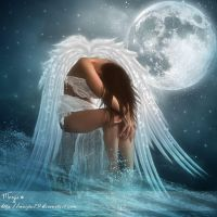 Arriane crying her love Tessriel by Marjie79