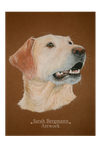 Labrador Commission - Pastel by BLACKNIGHTINGALE81