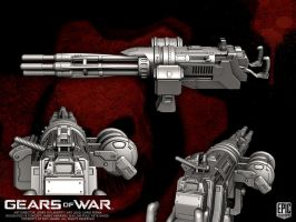 Gears of War COG Minigun by YemYam