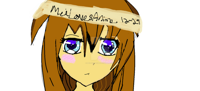 Paint.net Anime Drawing by MeiLovesAnime
