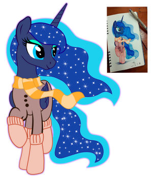 Luna In Winter Outfit vector by ZYKO-NIGHTMARE