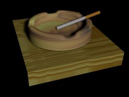 Cigarette in an Ashtray by afloodiscoming