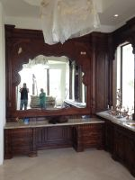 Master Bathroom Vanity Sitting Area by JPaulDesigns