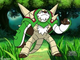 Pokemon Art Academy- Chesnaught by SusanLucarioFan16