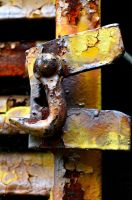 Rusted Train Latch/Hook by PAlisauskas