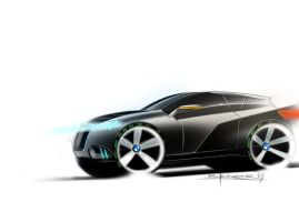bmw 502 crossover coupe perspe by p-sketch
