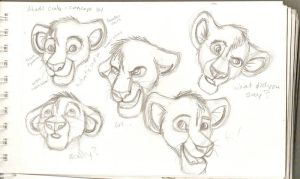 Cub Ahadi - 2010 ''Betrothed'' concept art by Nala15