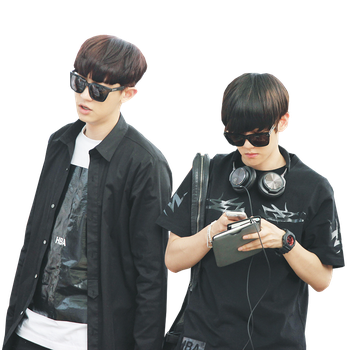 ChanBaek's PNG {Airport} by kamjong-kai