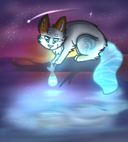 And in the winter night sky (contest entry) by snowgraywhite