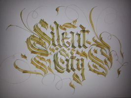 Silent City Calligraphy by Milenist