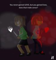 Undertale Firsk and Chara by cheeseypeasy