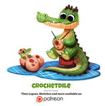 Day 1388. Chrochetdile by Cryptid-Creations