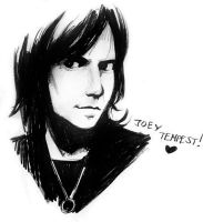 Joey Tempest sketch by Razuri-the-Sleepless