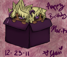 Happy Birthday Marik by YaoiYuriTwins