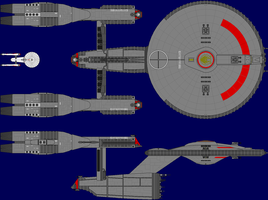 Constitution Class Battlestar by captshade