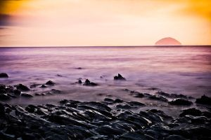 Ailsa Craig Sundown by derekbeattieimages