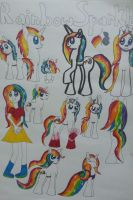 Rainbow Sparkle Reference Sheet by SirenAnimations