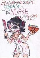 Halloween 2014: Sophie as the Nurse by gilster262