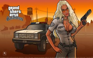 GTA SA Amy Anderssen copwoman by redfill