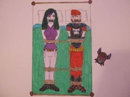 Vamp and Miss J bound and gagged on a double bed by spyaroundhere35