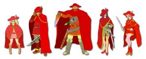 FFV Red Mages by ObstinateMelon