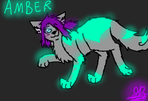 Amber The Glowing Wolf. C: by BBSMJ
